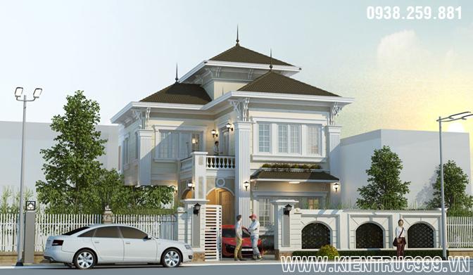 Mẫu biệt thự 2 tầng đẹp cao cấp mang phong cách phương Tây