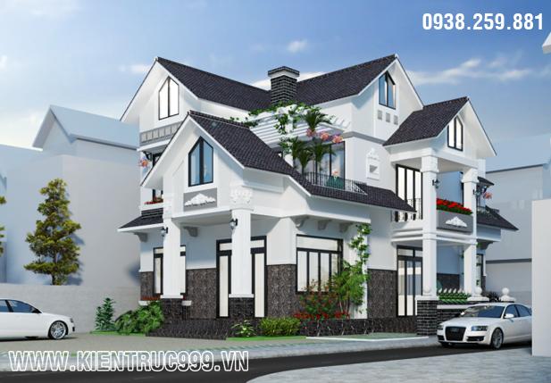 Biệt thự 2 tầng đẹp ở thành phố biển Đà Nẵng, nha dep 2 tang, thiet ke nha dep 2 tang