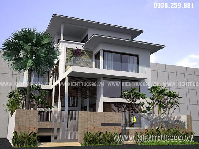 Mẫu thiết kế biệt thự 4 tầng đẹp số 7.