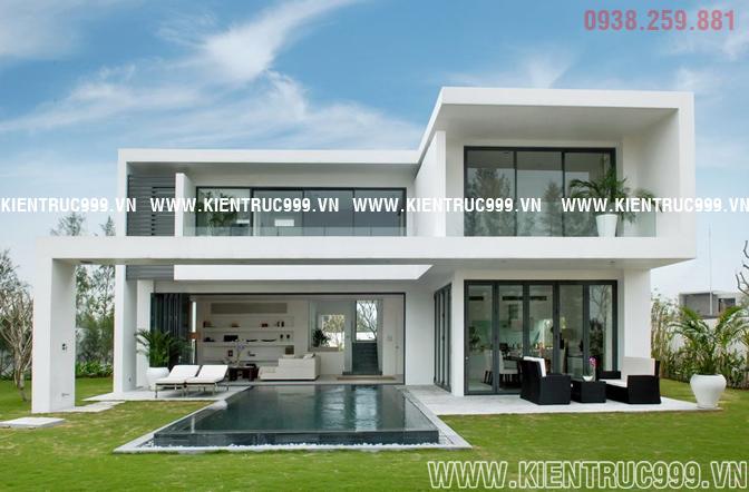 Biệt thự 2 tầng đẹp với lối thiết kế kiền trúc mở , 2 không gian bên trong và bên ngoài giao thoa vối nhau.