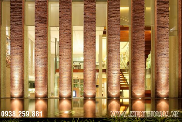 Mẫu thiết kế biệt thự 2 tầng có sân vườn hồ nước tuyệt đẹp c