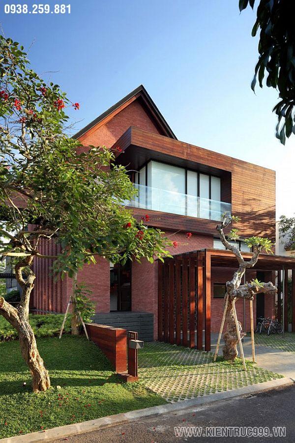 Mẫu thiết kế biệt thự 2 tầng có sân vườn hồ nước tuyệt đẹp a, thiet-ke-biet-thu-san-vuon-dep