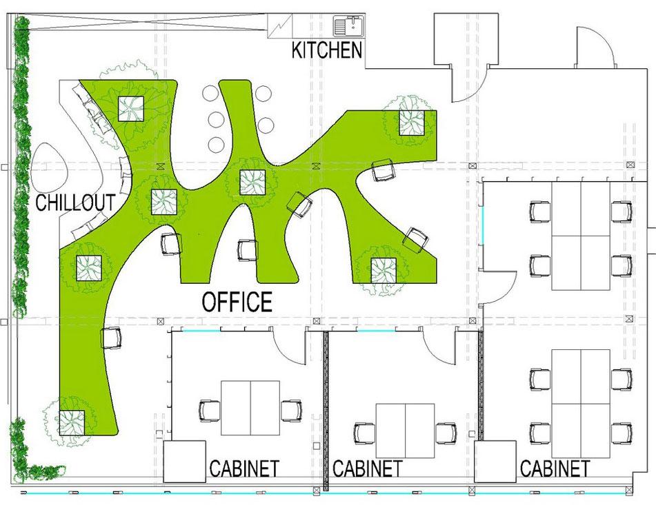 Vẻ đẹp độc đáo khi đưa cây xanh vào trong thiết kế nội thất văn phòng 7