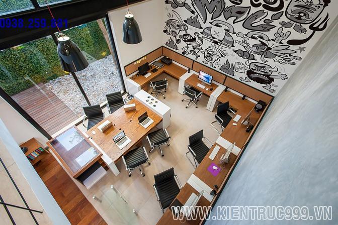 Thiết kế nội thất văn phòng xanh 5