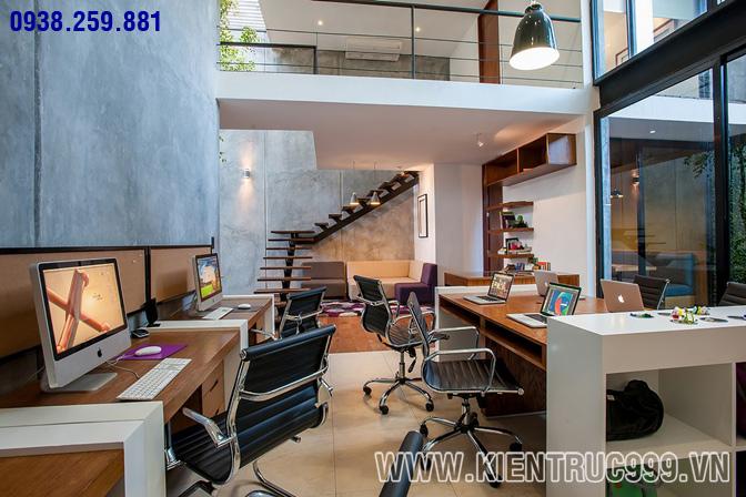 Thiết kế nội thất văn phòng xanh 6