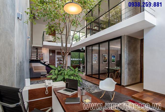 Thiết kế nội thất văn phòng xanh 7