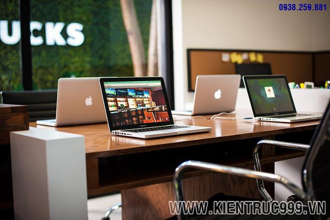 Thiết kế nội thất văn phòng xanh 9