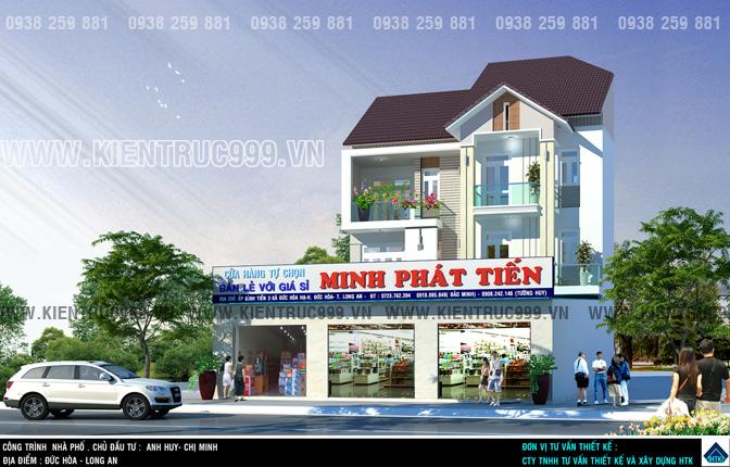 thiết kế nhà phố 3 tầng đẹp kết hợp kinh doanh