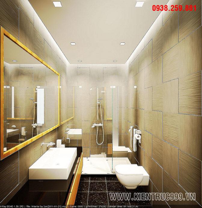 phòng vệ sinh đẹp là yêu cầu trong thiết kế nhà phố hiện nay