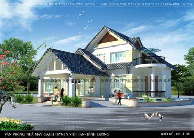 Thiết kế biệt thự đẹp, Biệt Thự 2 tầng đẹp Tân Uyên - Bình Dương