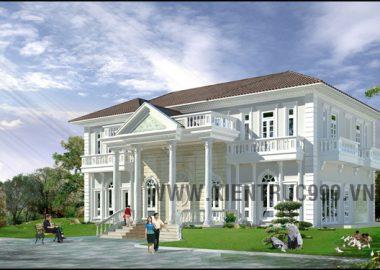 Thiết kế biệt thự đẹp - Biệt thự cổ điển đẹp -Trảng Bom, Đồng Nai