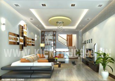Thiết kế phòng khách nhà anh Quốc - Buôn Mê Thuột.
