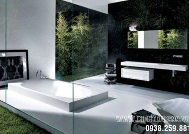 Thiết kế phòng tắm tại nhà thành spa thư giãn tuyệt vời.
