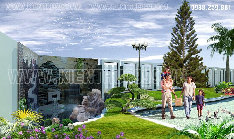 Biệt thự 2 tầng đẹp phía nam thành phố Buôn Mê Thuột có sân vườn hoàn chỉnh
