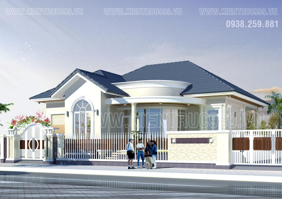 Biệt thự 1 tầng đẹp dẫn đầu xu hướng nhà đẹp 1 tầng đaklak