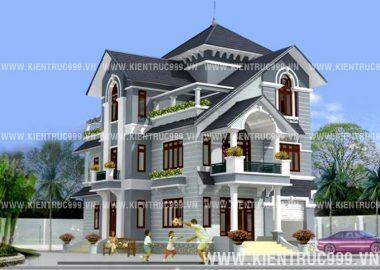 Biệt thự cổ điển đẹp, một thiết kế biệt thự kiểu Pháp đẹp.