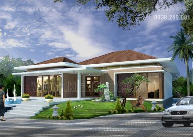 Biệt thự sân vườn 1 tầng 150m2 - Mỹ Tho - Tiền Giang