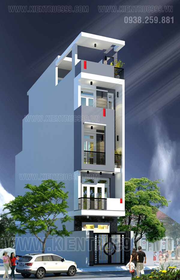 Thiết kế thi công nhà phố, biệt thự, nhà văn phòng tphcm - 21