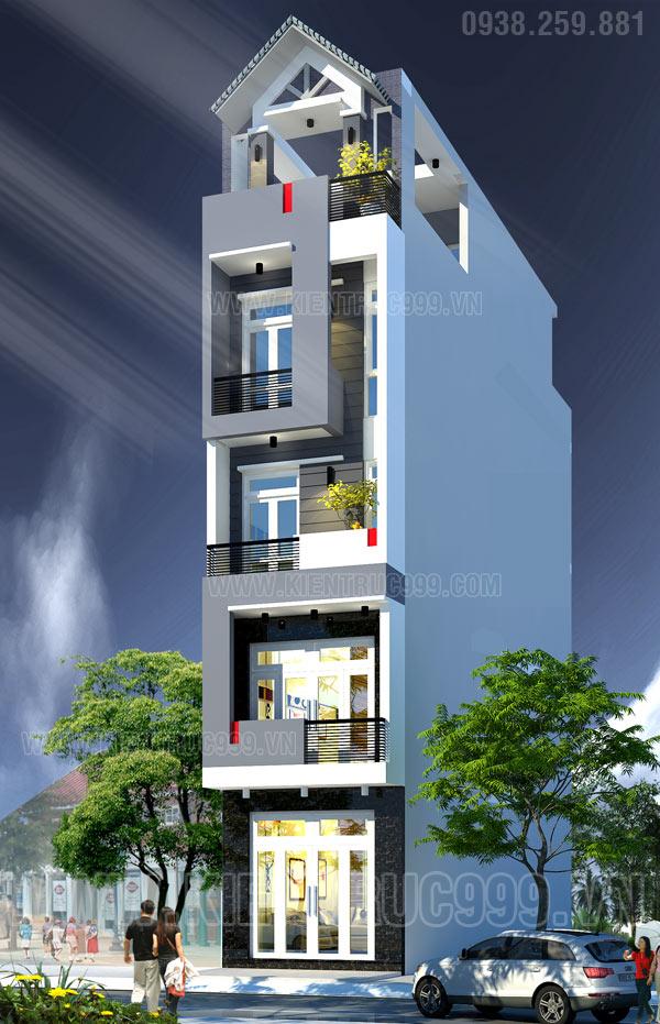 Thiết kế thi công nhà phố, biệt thự, nhà văn phòng tphcm - 16