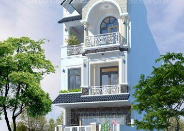 Nhà phố cổ điển 3 tầng khoe vẻ đẹp mạnh mẽ giữa phố núi Buôn Mê.