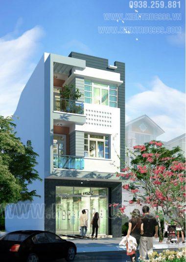 Kiến trúc nhà phố đẹp Buôn Mê - Nhà phố 6m đẹp- Nhà phố lệch tầng đep.
