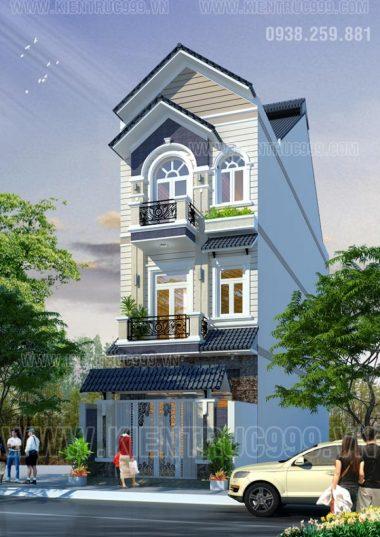 Mặt tiền nhà phố 5m đẹp - Mẫu thiết kế nhà phố đẹp tháng 5-2015