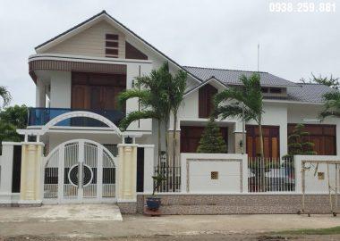 Hình ảnh hoàn thiện ngôi biệt thự sân vườn ở An Giang.