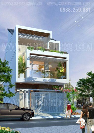 Mẫu thiết kế nhà phố 3 tầng đẹp mặt tiền 7m5 tại TP. BMT - DakLak mới nhất.