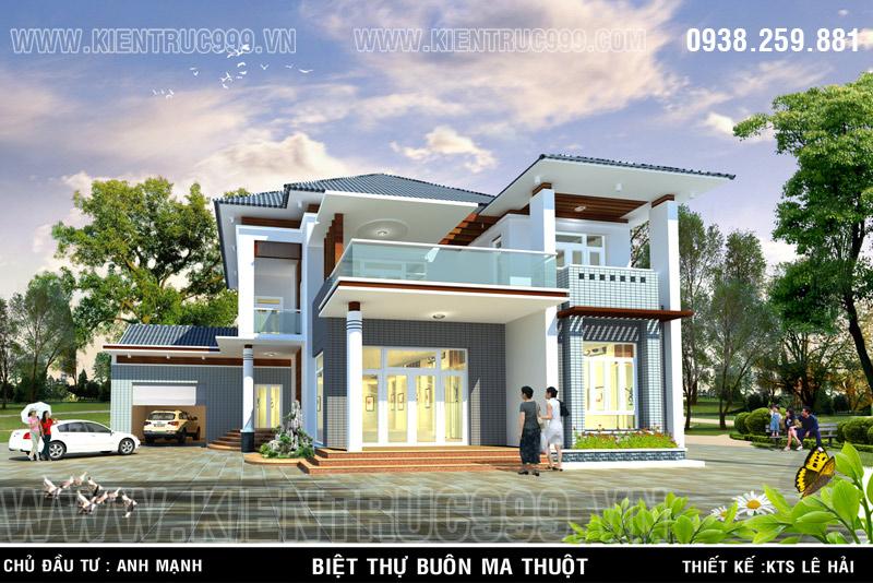 Thiết kế nhà đẹp - biệt thự đẹp phải kết hợp hài hoà giữa ngôi nhà với cảnh quan xung quanh