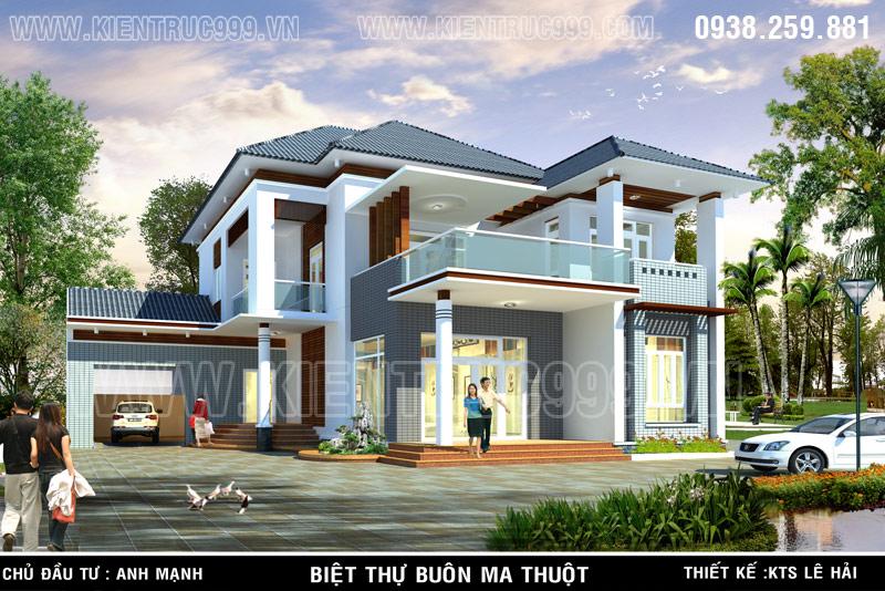 Đường nét trong thiết kế nhà đẹp biệt thự đẹp này đơn giản nhưng tinh tế sang trọng.