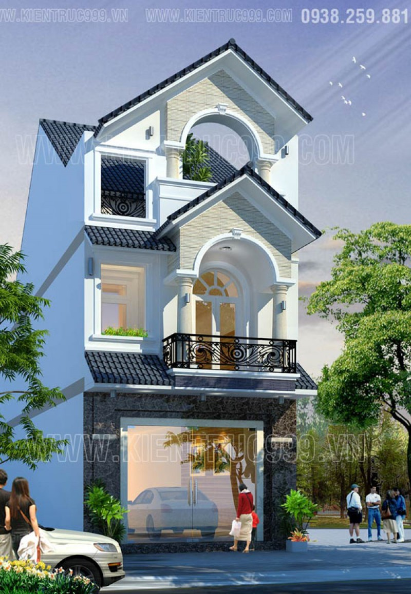 Thiết kế thi công nhà phố, biệt thự, nhà văn phòng tphcm - 9