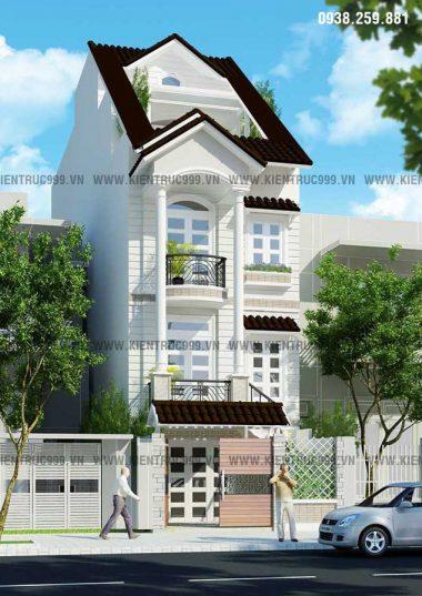 BST nhà phố cổ điển do công ty HTK thiết kế