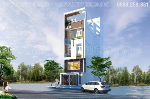 Thiết kế nhà đẹp-Nhà phố 4 tầng đẹp tại quận 1 - TpHcm
