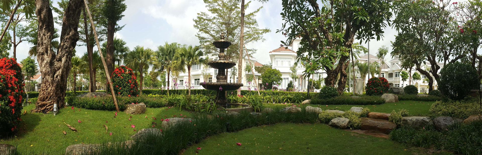 Thiết kế sân vườn đẹp nhất HTK