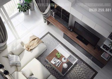 Yêu từ cái nhìn đầu tiên khi ngắm thiết kế nội thất căn hộ 3 phòng ngủ này.