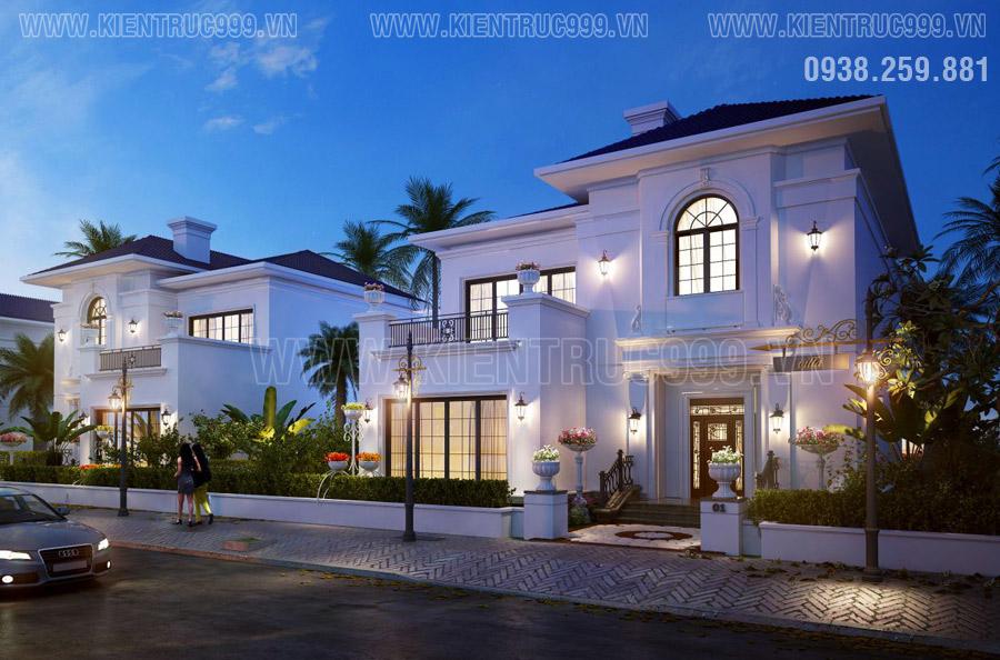 Vẻ đẹp của kiến trúc tân cổ điển được thể hiện chi tiết xuyên suốt trong ngôi biệt thự này