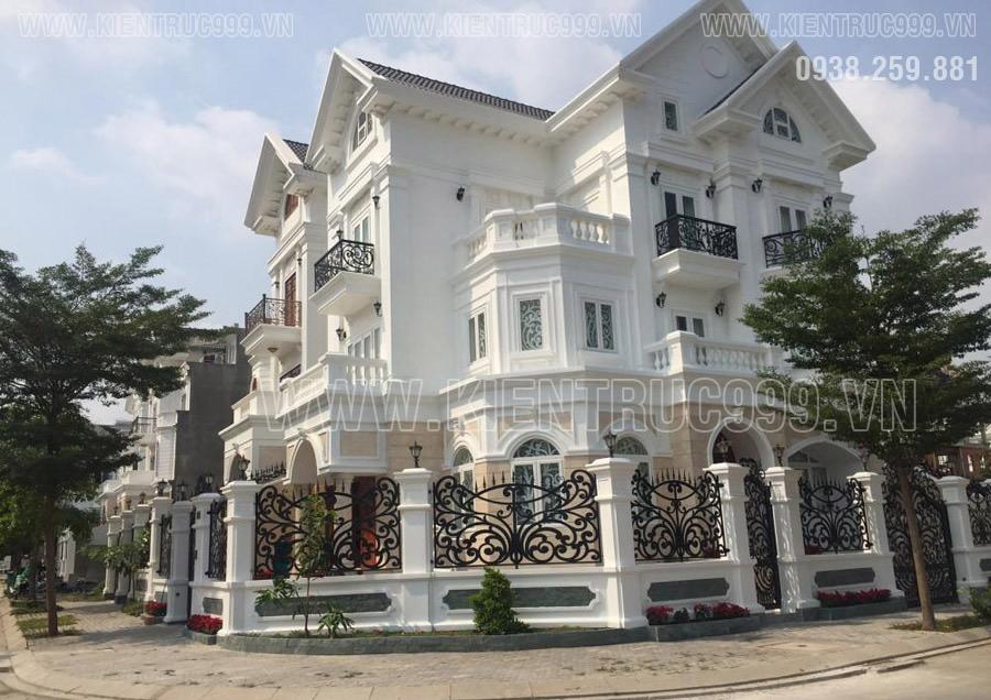 Thiết kế biệt thự tân cổ điển đẹp 3 tầng Sài Gòn