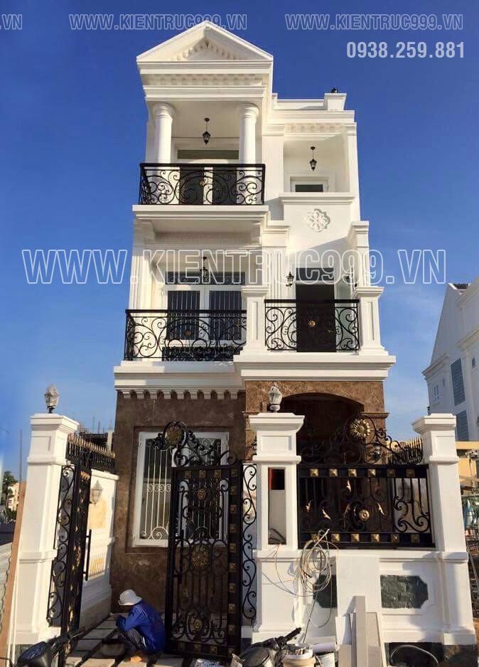 Nhà đẹp cổ điển mặt tiền 6m khẳng định đẳng cấp.