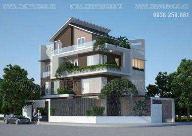 Thiết kế biệt thự 4 tầng hiện đại ở Thuận An - Bình Dương