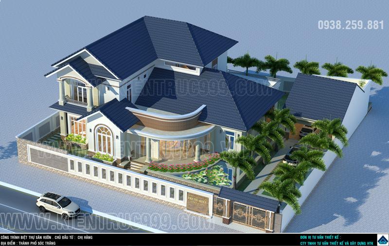 Thiết kế biệt thự đẹp Sóc Trăng khẳng định đẳng cấp thiết kế công ty HTK.