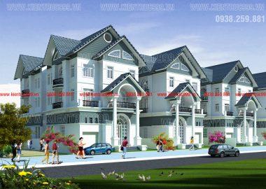 Thiết kế biệt thự mẫu, nhà mẫu khu dân cư - văn phòng cho thuê Nhơn Khánh