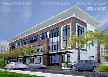 Thiết kế nhà điều hành 3 tầng công ty Tiến Triển - ĐakNông