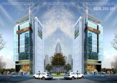 Thiết kế tòa nhà văn phòng 8 tầng đường Phổ Quang-Phú Nhuận-TP.HCM