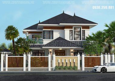 Thiết kế xây nhà đẹp 2 tầng Phường Tân Lợi - Buôn Mê - Đaklak