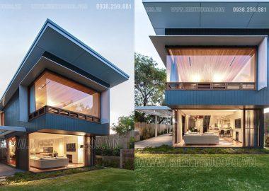 Nhà đẹp hiện đại 2 tầng với thiết kế không gian mở - cầu thang mỏng như tờ giấy