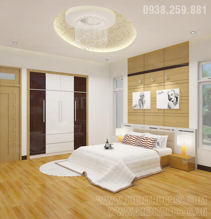 Biệt thự 1 tầng đẹp- nội thất phòng ngủ đẹp.