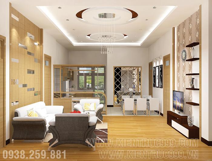 Biệt thự 1 tầng đẹp- nội thất phòng khách đẹp 7