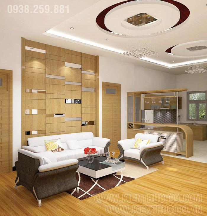 Biệt thự 1 tầng đẹp- nội thất phòng khách đẹp 9