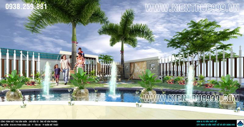 Biệt thự 1 tầng đẹp có thiết kế sân vườn đẹp