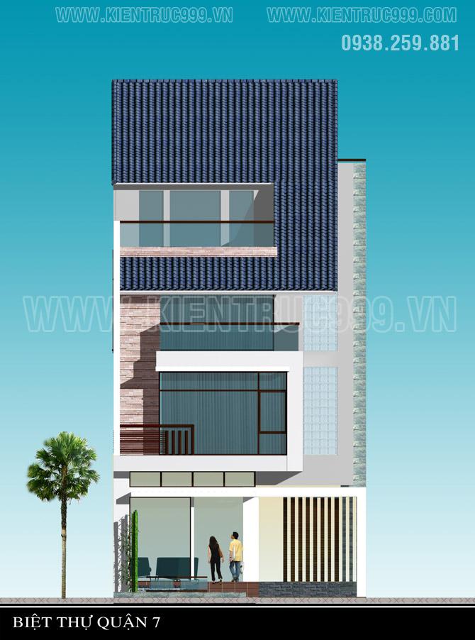Thiết kế nhà đẹp 2018 Sài Gòn gây thiện cảm bởi sự nhẹ nhàng, nhiều cây xanh.